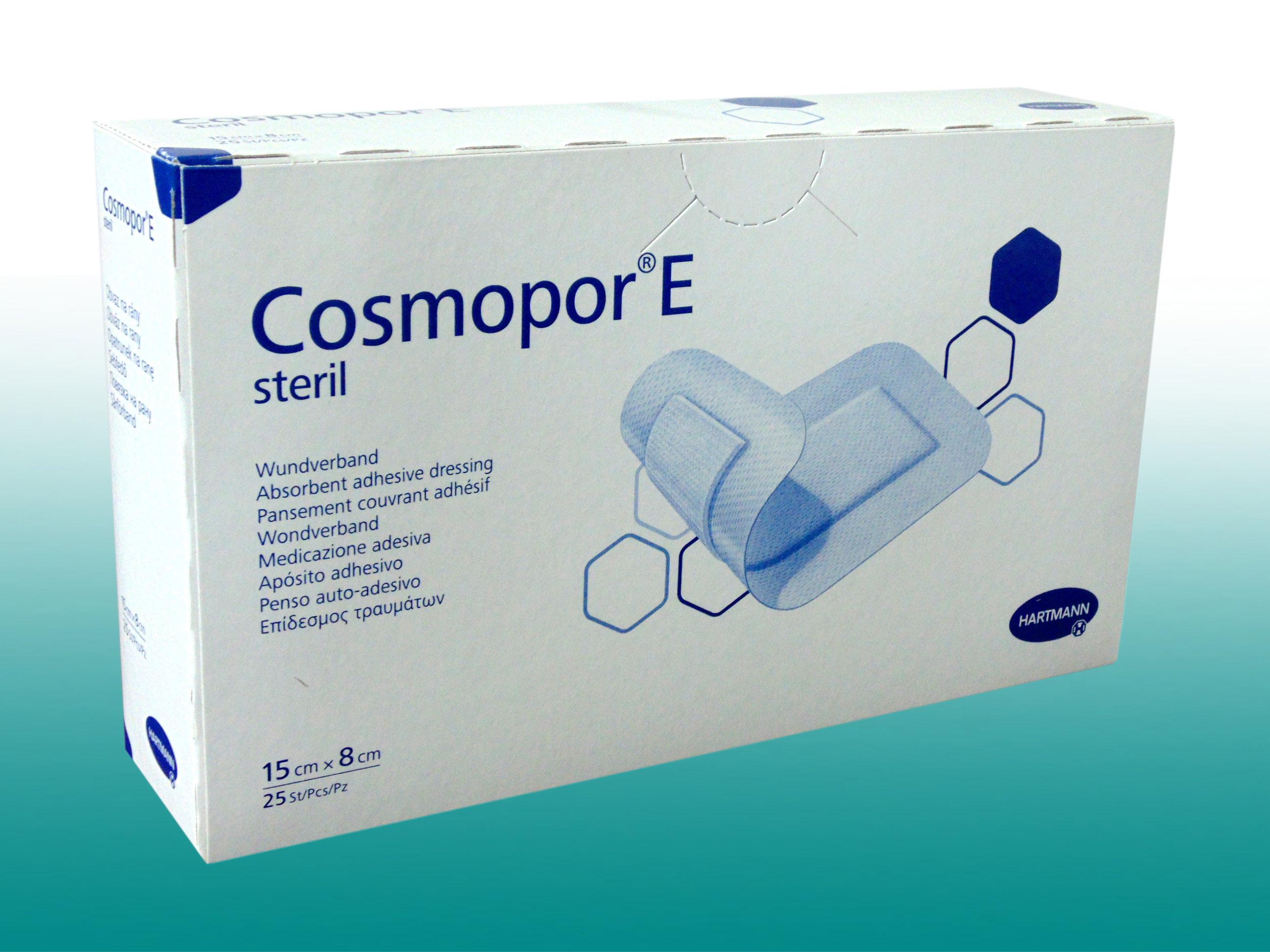 25 Pflaster steril, 15cm x 8cm Wundpflaster Wundverband COSMOPOR E ...